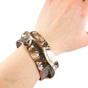 Spine Copper Cuff – Wide