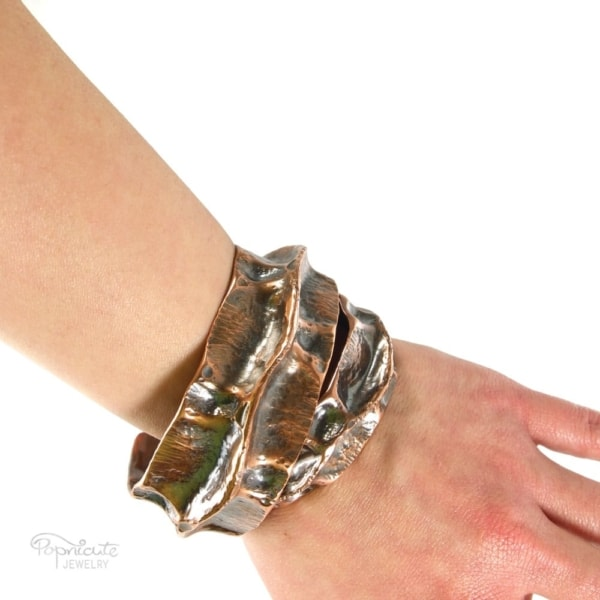 Spine Cuff Copper Bracelet by Popnicute Jewelry