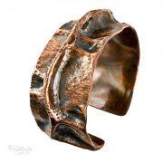 wide copper pipe cuff bracelet by popnicute jewelry