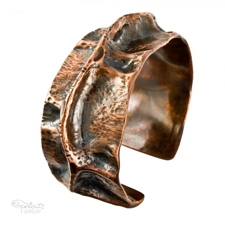 Spine Copper Cuff – Wide