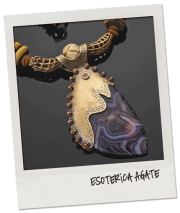 esoterica agate brass necklace by popnicute jewelry