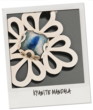silver mandala kyanite pendant-necklace by popnicute jewelry