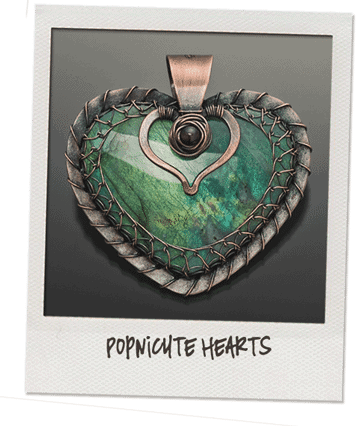 Labradorite heart copper by popnicute jewelry
