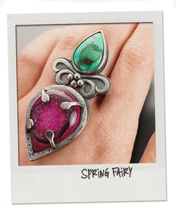 Sterling silver cocktail ring by popnicute jewelry