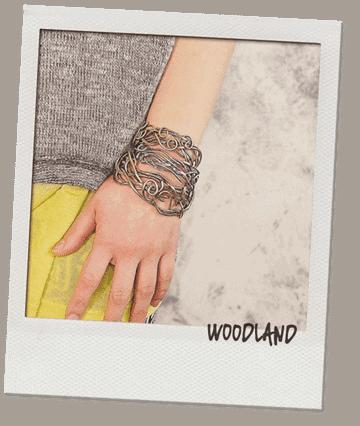 woodland silver brass bracelet cuffs popnicute jewelry