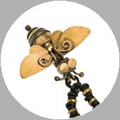 brass copper bee beekeepers friend pendant necklace by popnicute jewelry