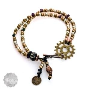 Boho Steampunk Bracelet – Bronze