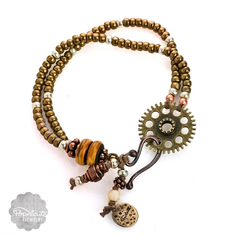 Bohemian Steampunk Gear Charm Bracelets