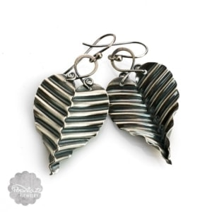 Silver Leaf Earrings – M