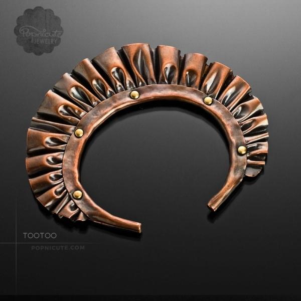 unique copper ruffle bangle
