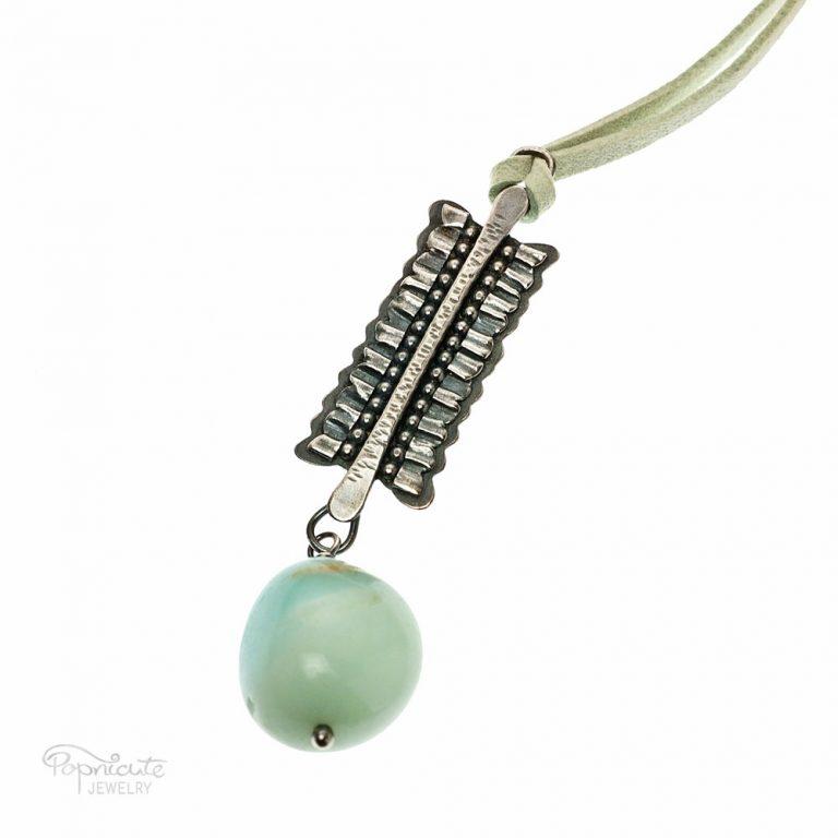 Aquamarine Frill Necklace