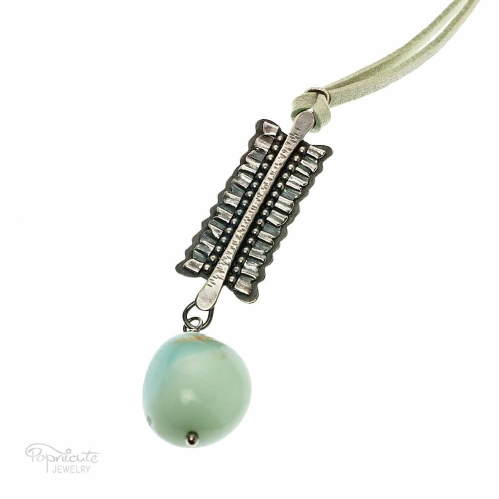 Mini Ruffles Sterling Silver Aquamarine Necklace by Popnicute Jewelry. Pre-order now. Pre-order period: June 8 - 25, 2017. The product will ship July 10 - 17, 2017. Get a bonus with pre-order purchase of $200!