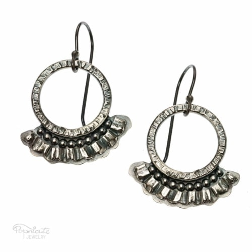 Frilly Hoops Earrings