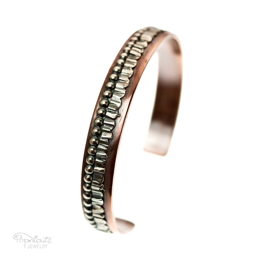 Unisex Skinny Copper Bangle by Popnicute Jewelry. Pre-order now. Preorder period: June 8 - 25, 2017. Product will ship July 10 - 17, 2017. Get bonus with pre-order purchase of $200!