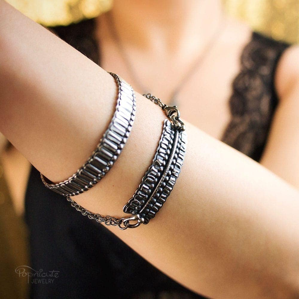 Sterling Silver Bar Bracelet by Popnicute Jewelry. Pre-order now. Pre-order period: June 8 - 25, 2017. The product will ship July 10 - 17, 2017. Get a bonus with pre-order purchase of $200!
