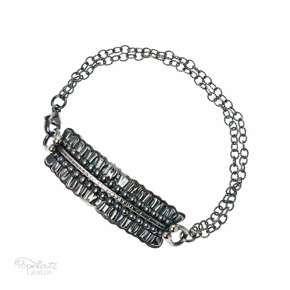 Sterling Silver Bar Bracelet by Popnicute Jewelry. Pre-order now. Preorder period: June 8 - 25, 2017. Product will ship July 10 - 17, 2017. Get bonus with pre-order purchase of $200!