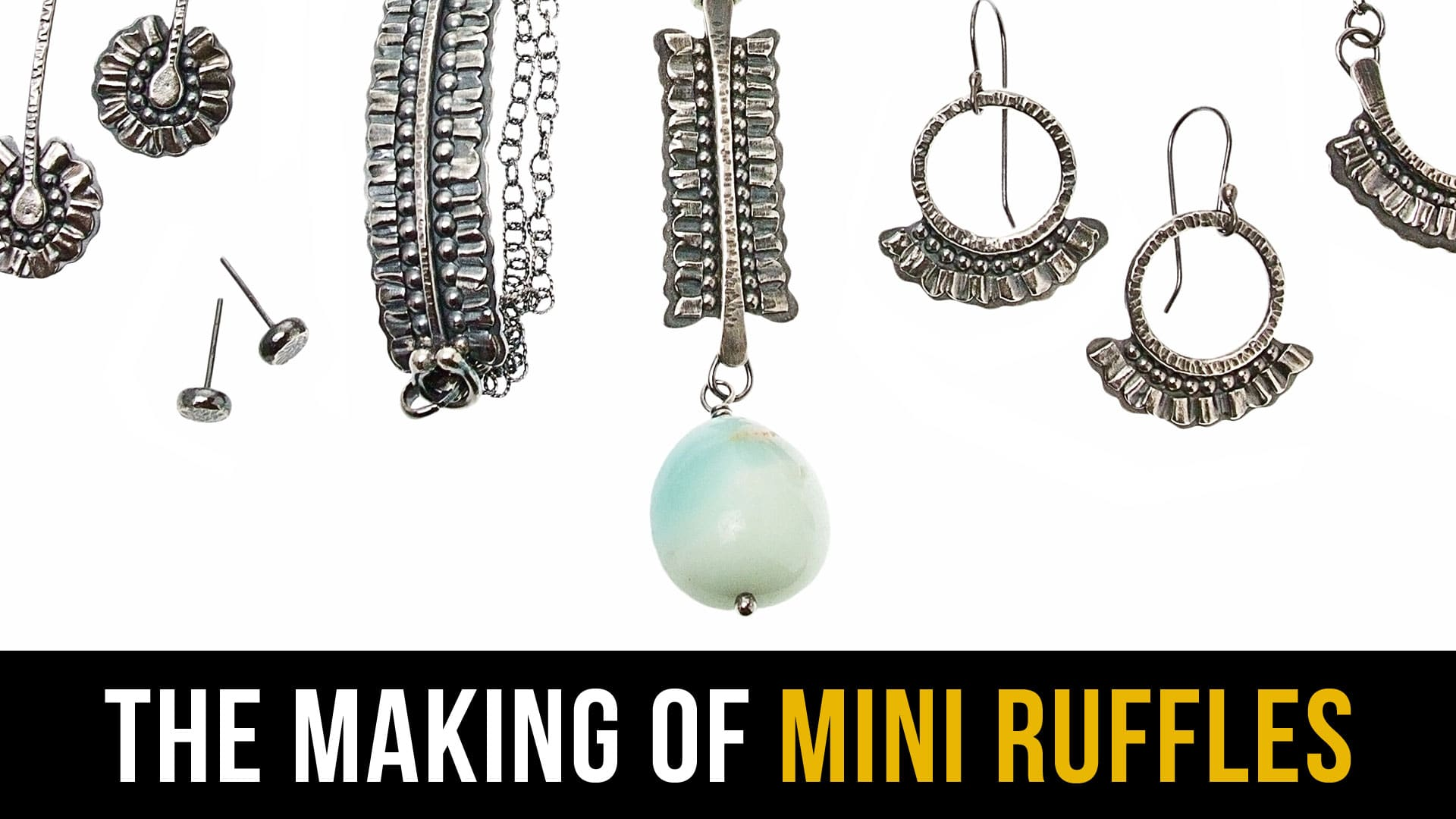 The making of mini ruffles collection. A video by Popnicute Jewelry