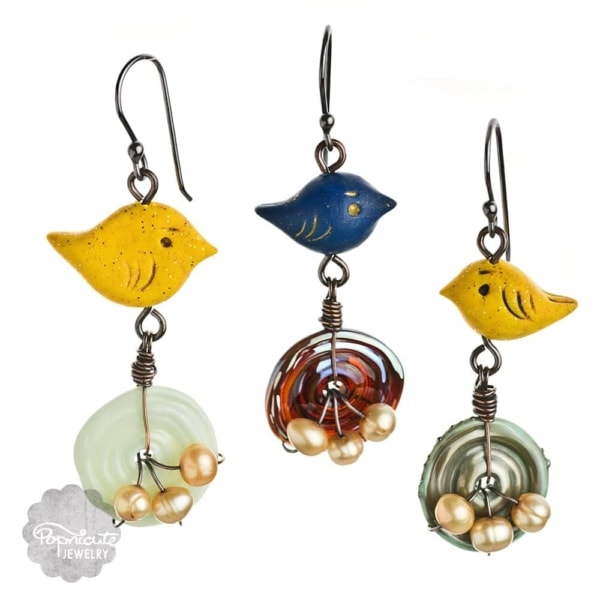 Bird Nests Earrings by Popnicute Jewelry