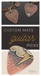 Custom collectible guitar picks by popnicute jewelry