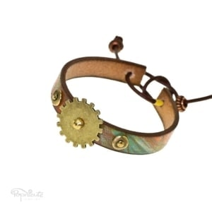 Orange Steampunk Bracelet