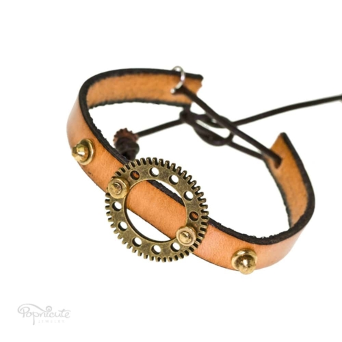 Studded Steampunk Leather Bracelet