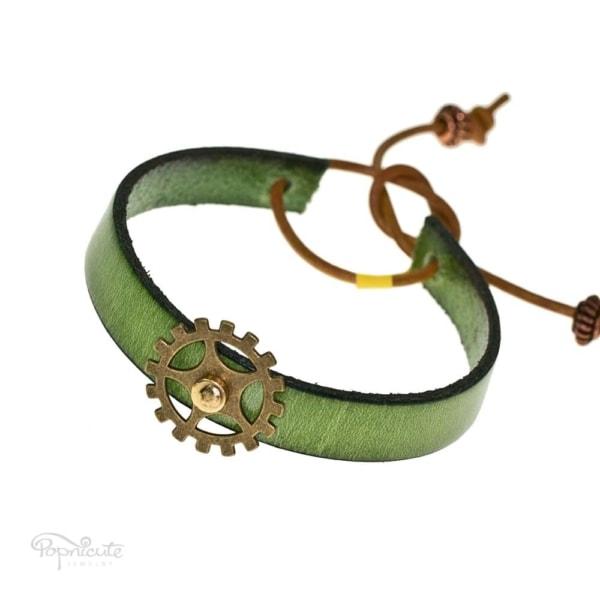 Green Gear Bracelet