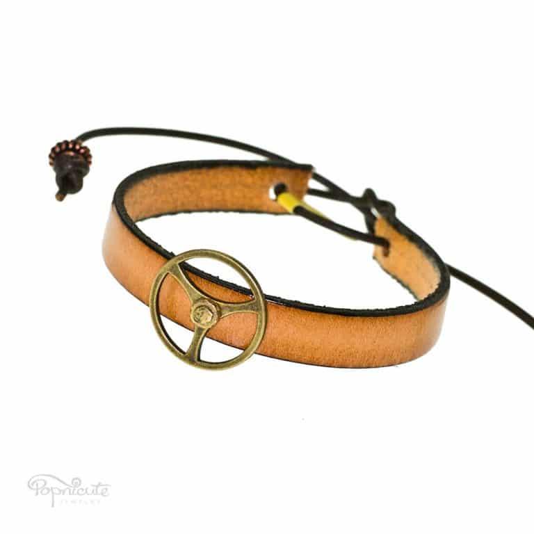 Simple Tan Gear Bracelet