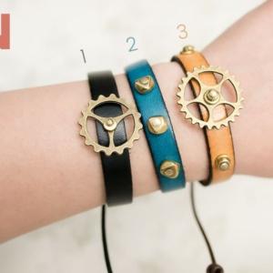 Tan Gear Bracelet