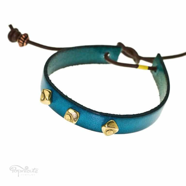 Blue Studded Bracelet