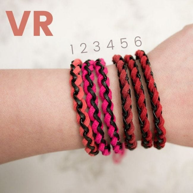 Braided Leather Bracelets - Red