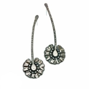 Daisy earrings, sterling silver ear posts by Popnicute Jewelry