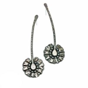Daisy earrings, sterling silver ear posts by Popnicute Jewelry