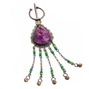 Penannular brooch, fibula, Moroccan inspired pin, by Popnicute Jewelry