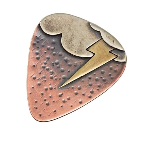 Stormy cloud lightning novelty guitar pick by Popnicute Jewelry