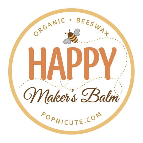 Happy Maker's Balm is made of beeswax that's extra moisturizing for dry hands. Beeswax balm has antibacterial and healing properties. The beeswax came from a bee farm in Quincy, IL. All natural product that's locally made and has a very sweet and soft scent of honey from the beeswax.