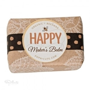 Happy Maker's Balm – Beeswax Balm Salve – Paper Wrap