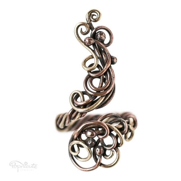 Adjustable Wire Wrapped Ring – 5.5 – 7.5