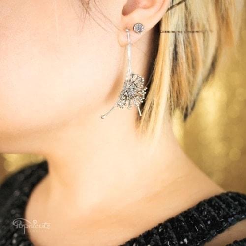Sterling Silver Dandelion Earrings
