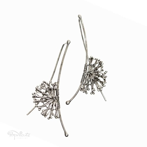 Sterling Silver Dandelion Earrings