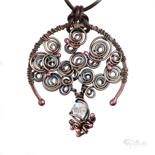 Diamond: April Birthstone Tree of Life Necklace