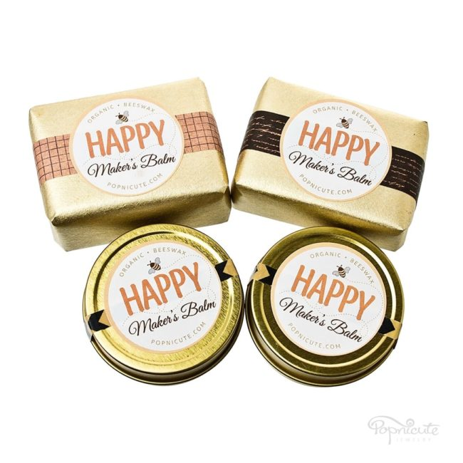 Happy Maker's Balm beeswax balm hand salve is made of beeswax that's extra moisturizing for dry hands. Beeswax has antibacterial and healing properties. The beeswax came from a bee farm in Quincy, IL. All natural product that's locally made and has a very sweet and soft scent of honey from the beeswax.
