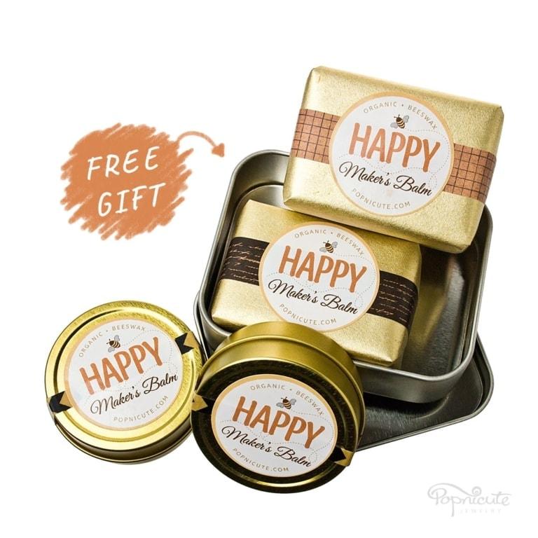 Happy Maker's Balm – Pack of 4 + Bonus Case