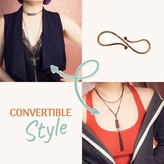 Magical S-clasp Necklace Converter™ by Popnicute Jewelry in Argentium Sterling Silver