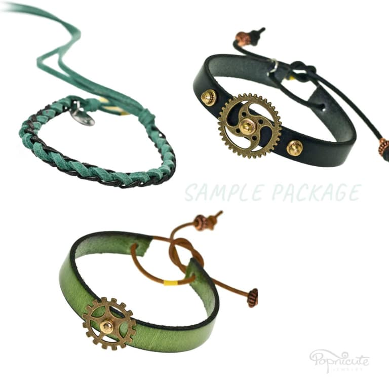 Leather Bracelets 3-Pack Bundle