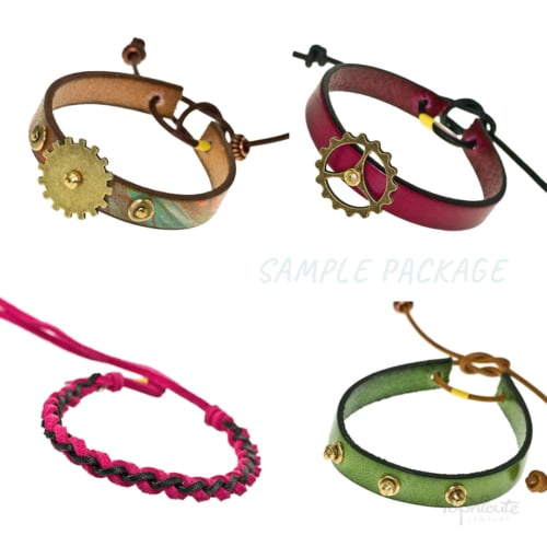 Leather Bracelets 4-Pack Bundle