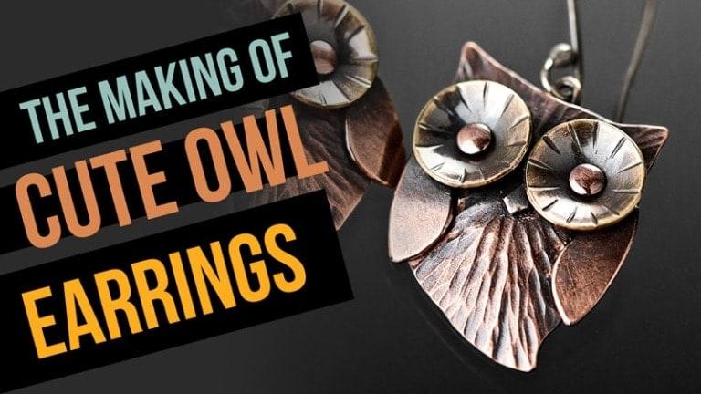 Owl earrings the making video Popnicute Jewelry