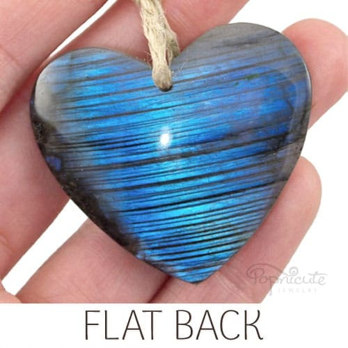 heart pendant blue labradorite
