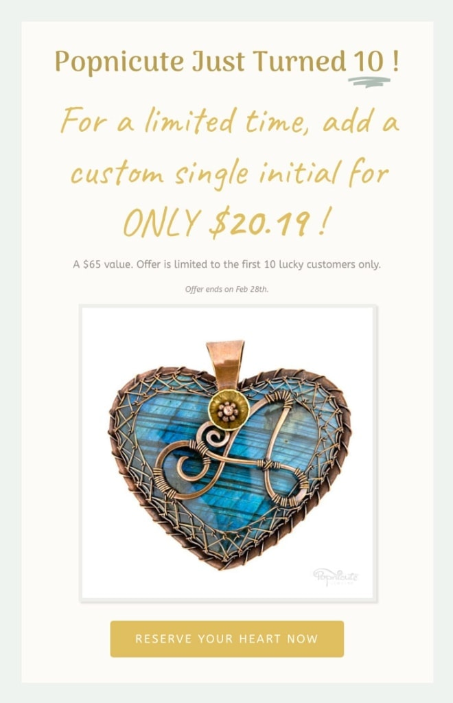 Popnicute Hearts magical $20.19 offer. Valid for the first 10 customers only!